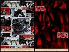 Walking Dead Zombie Cartoon Red Black Quilting Cotton Fabric ONE YARD PIECE