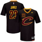 Lebron James 23 Cleveland Cavaliers Swingman Black Gold Jersey NEW