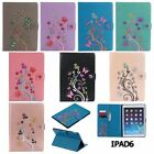 Fashion Beautiful pattern Case PU Leather Sleep Case Stand Cover For Apple iPad