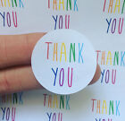 30 Rainbow Thank You Stickers Business Packaging Mailing Wedding Party Stickers