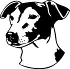 PERSONALIZED DOG'S NAME-JACK RUSSELL/VINYL DECAL STICKER 5 1/2 Inch