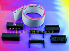 IDC KIT 16 polig /pin + 30 cm Flachbandkabel Ribbon cable  Buchse Stecker Header