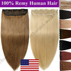 silky hair extensions - Silky One Piece Clip In Remy Human Hair Extensions 3/4 Full Head Straight B304