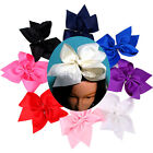 "10"" Girls Kid Hair Bows Boutique Ribbon Hair Clips Double Layer Hair accessories"