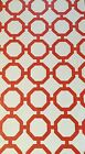 Hand-Painted Orange and White Roundabout Town Floorcloth - Choose Your Size