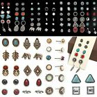 WOW Women Girls Vintage Simulated Pearl Ball Stud Earrings Jewelry 6 Pairs/Set