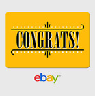 eBay Digital Gift Card - Congrats Yellow -  email delivery
