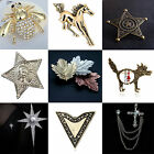 WOW Fashion Unisex  Crystal Brooch Badge Brooches Pin Brooch Jewellery Accessory