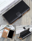 Luxury Genuine Leather Flip Stand Case Wallet Cover For Various Mobile Phones