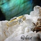 Diamond Engagement Ring 1.09 CT Round VS/F-G 14k Yellow Gold Size 7.5 Enhanced