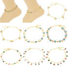 Colourful Stone Eyes Chain Anklet Beach Foot Jewellery Women Girl Bow Heart Gift