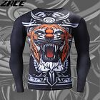MMA Compression T Shirts For Men Clothing 3d Tiger Printer Training Metallica