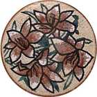 Flower Medallion Mosaic Tile Rugs