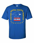 USPS POSTAL POST OFFICE ROYAL T-SHIRT VINTAGE 3 COLOR POSTAL LOGO ON CHEST S-3X