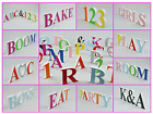 Colour PAINTED Letters Numbers Free Standing Indoor Outdoor Plastic not Wooden