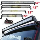 "5D 22""/32""/42""/50""/52""/54""inch 4"" 18W LED Work Light Bar Offroad Driving Lamp JK"