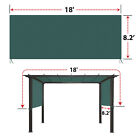 18' x 8.3' Universal Replacement Canopy Top Green Cover for Pergola Structure