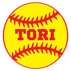 SOFTBALL BALL NAME TEAM Vinyl Decal Sticker for CUP TUMBLER JEEP LAPTOP TRUCK