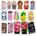 3D Creative Cartoon Phone Soft Silicone Case Cover Skin For iPhone 6 6s 7 / Plus
