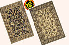 5x7 Area Rug Traditional Oriental Persian Design Black & Beige NEW