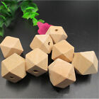 10/20pc Unpainted Natural Unfinished Wood Beads Geometric Spacer Wooden Bead New
