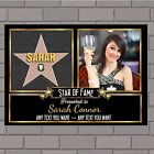 Personalised Hollywood Star Walk of Fame Birthday PHOTO Poster Banner Print N167