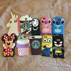 New 3D Cute Cartoon Soft Silicone Case Cover iPhone 5/6/6P/7/7P Samsung S5/S6/S7