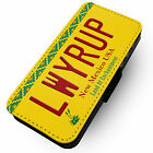 LWYRUP Licence Plate - Faux Leather Flip Phone Cover Case #2