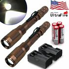 15000LM Police Tactical CREE XM-L T6 LED 5 Modes 18650 Flashlight Torch Zoomable