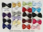 Boys Bowtie Bow Tie Clip-On 21 Colors Poly Silk Infant Baby Toddler Sm & Large
