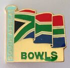 South Africa Bowls Flag Bowling Club Badge Pin Rare Vintage (M12)
