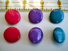 "BRIGHT Plastic Shank BUTTONS * MAGENTA or BLUE  sz. 3/4"" or 7/8"""