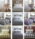 Duvet sets modern contemporary bedding check & geometric quilt cover bed sets