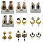 Indian Bollywood Style Fashion Wedding Gold Plated Earrings Set Party Jewelry