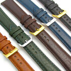 'Verona' Padded Camel Grain Leather Watch Strap Band, Super Quality, 16mm - 24mm