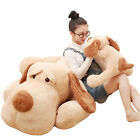 Big Plush Lying  Dog Toy Large Size Stuffed Animal Sleeping Pillow Doll