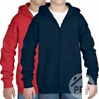 2 Pack Childrens Gildan Zipped Hoodie Girls Boys Hoody Sweater School Uniform