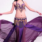 A006-02 Pro Belly Dancing Costume 3 Parts Bra Belt Skirt Tribal Della