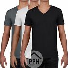 3 Pack Gildan Soft Mens V Neck T Shirt Plain Wholesale Work wear Tshirt Top SALE