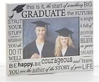 Graduation photo frame silver special gift celebration
