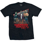 Mens Black Short Sleeve T Shirt Guardians of the Galaxy Vol. 2 Eighties Official