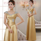 Women's Evening Party Ball Gown Formal Bridesmaid Cocktail Glitter Sequins Dress