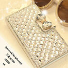 NEW LUXURY BLING BOWKNOT CRYSTAL DIAMOND WALLET FLIP CASE COVER SHELL FOR IPH0NE