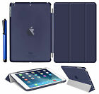 Smart Magnetic Stand Leather Case +Hard Back Cover For APPLE iPad 4/3/2 Air Mini