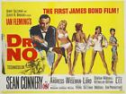 James Bond 007 Dr. No 1962 Movie Poster Canvas Poster Art Print Sean Connery £20.0 GBP