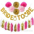 Bride to Be Banner Paper Pompom Tissue Tassel Ball Hen Party Accessories Wedding