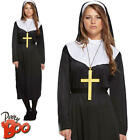 Nun + Veil Ladies Fancy Dress Religious Saints and Sinners Adults Womens Costume