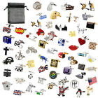 Novelty Quality Classic Sports Animal Cufflinks 183 Designs With Organza pouch