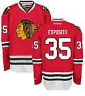 Tony Esposito Chicago Blackhawks Home Red Premier Jersey by Reebok