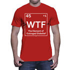 WTF The Element of Outraged Disbelief - Funny Periodic Science Mens T-Shirt